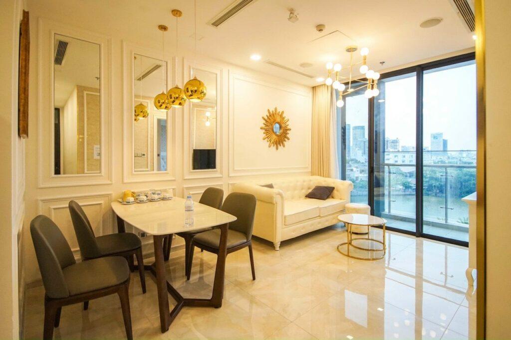Cho Thuê Căn Hộ 2 Phòng Ngủ Vinhomes Bason Golden River 69m2 - Giá Thuê $800 Tốt Nhất Thị Trường