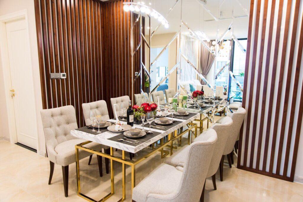 Phòng bếp cao cấp sang trọng tại Vin Golden River