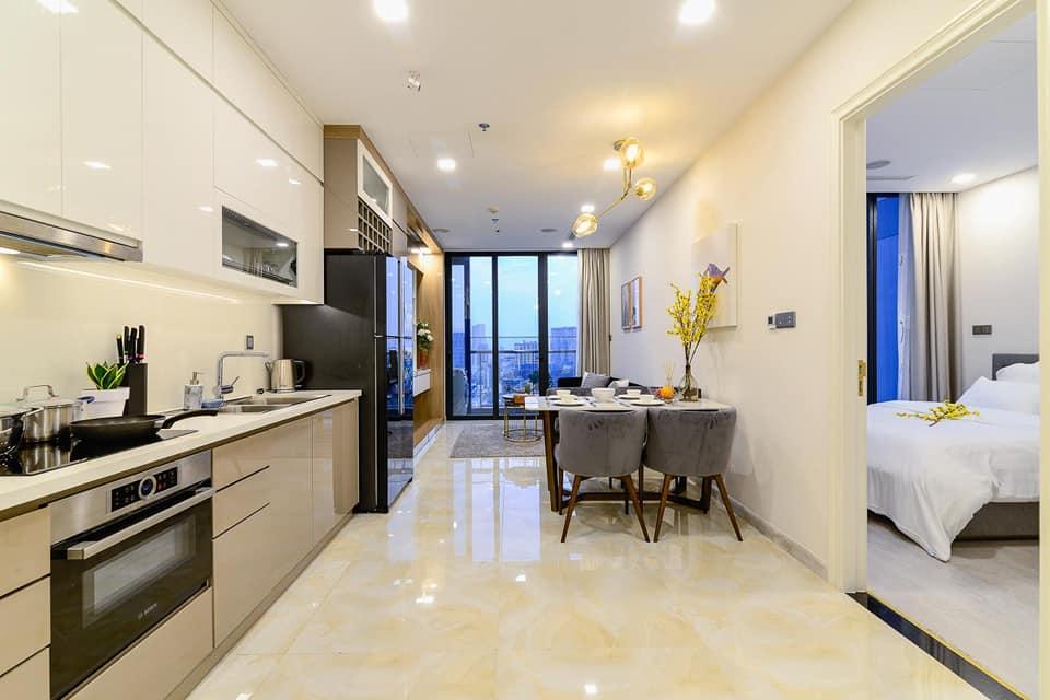 Căn Hộ 1 Phòng Ngủ Vinhomes Tân Cảng Central Park Giá Thuê $600-700