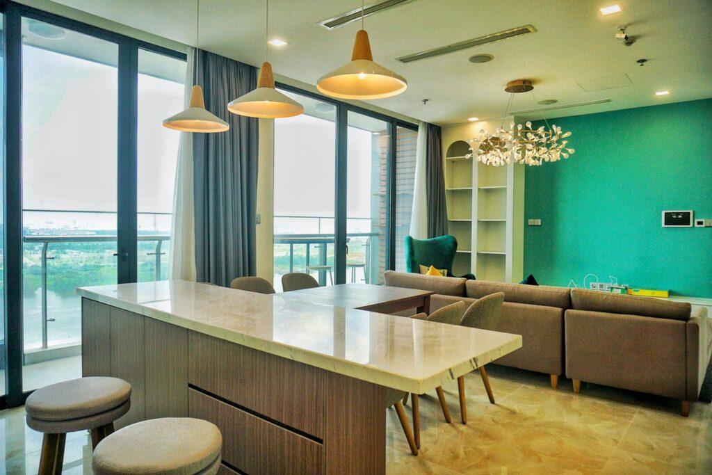 Vinhomes Tân Cảng 3 Phòng Ngủ - Vinhome Central Park Có Giá Thuê $1000-1300