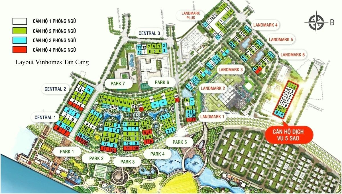 Read more about the article Mặt Bằng Vinhomes Tân Cảng Layout Vinhome Central Park Landmark 81